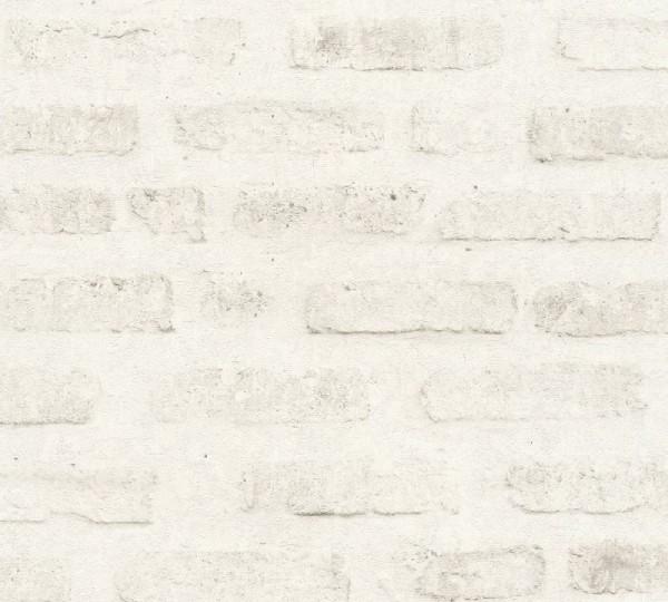 Livingwalls Vliestapete New Walls, Loft Living Stein Weiß 374222