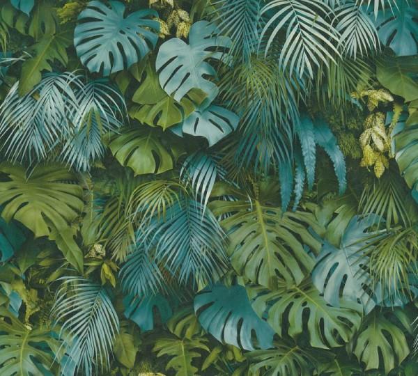 A.S. Création Vliestapete Greenery, Grün Blau 372803