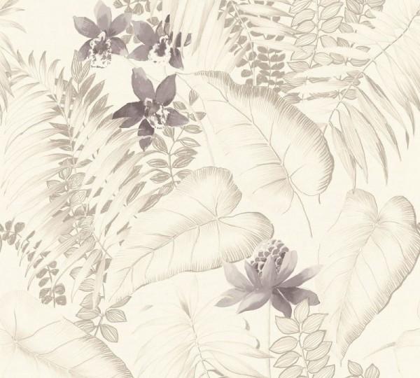 A.S. Création Vliestapete Exotic Life, Beige Braun Grau 372793
