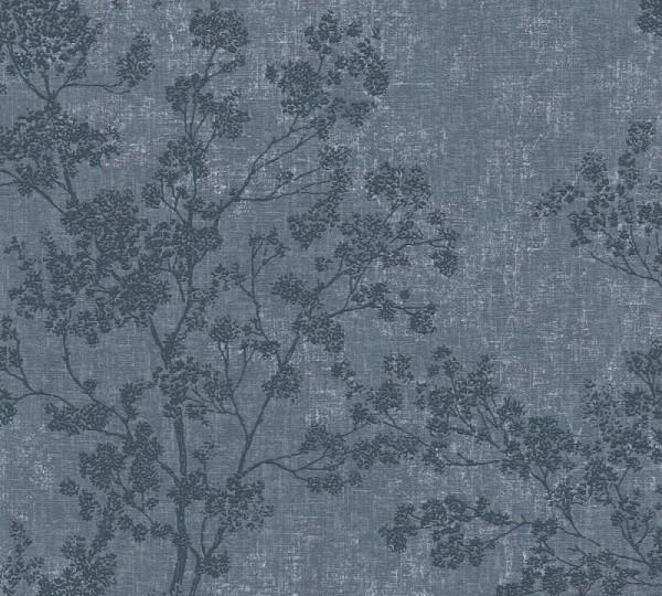 Livingwalls Vliestapete New Walls, Cosy & Relax Bäume Blau 373974