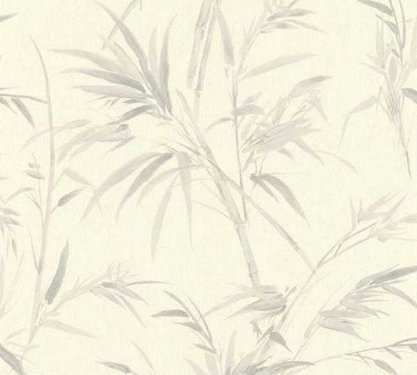 A.S. Création Vliestapete Sumatra, Weiß Grau 373762