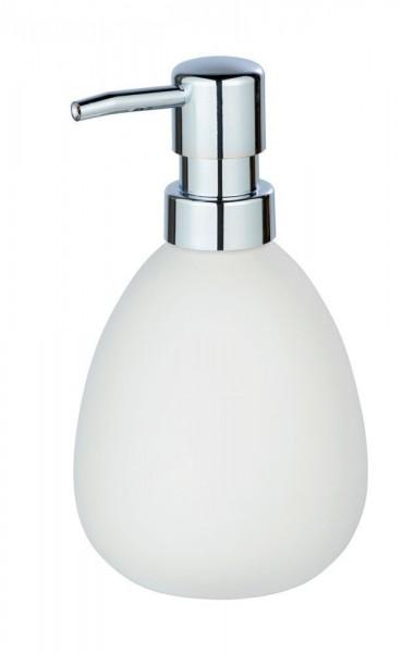 WENKO Seifenspender Polaris Weiß matt, Keramik, 390 ml