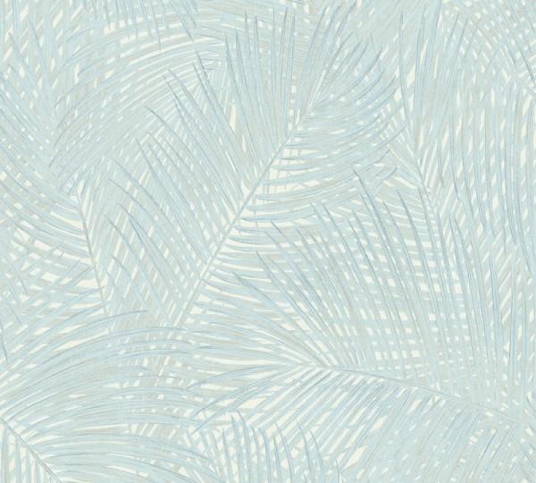 A.S. Création Vliestapete Sumatra, Hellblau Grün 373714