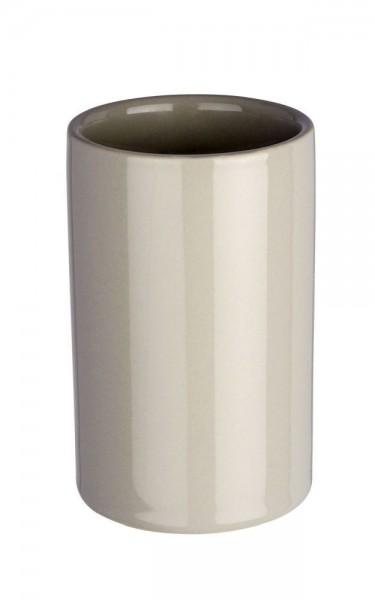 WENKO Zahnputzbecher Polaris Pastel Grey, Keramik