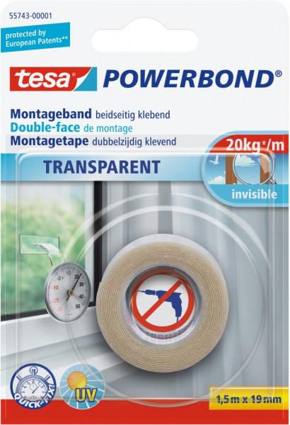 tesa® Powerbond® Montageband Transparent