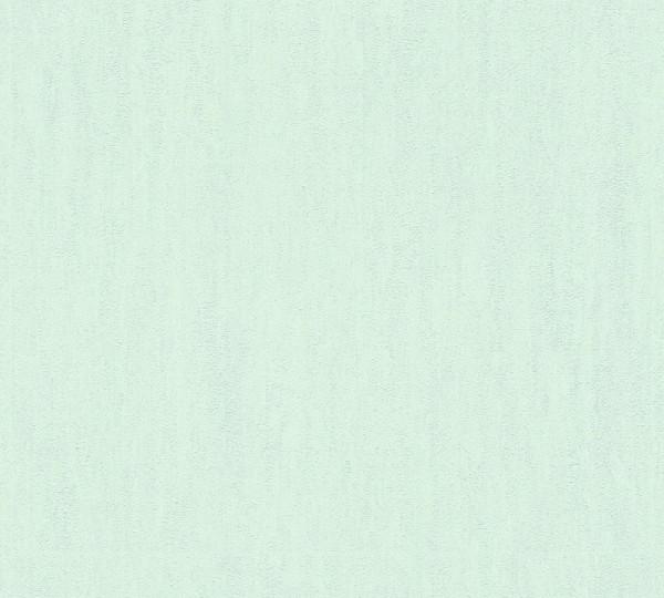A.S. Création Vliestapete Trendwall, Uni Blau Grün 373372