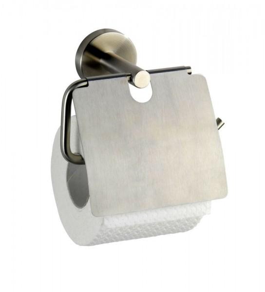 WENKO Toilettenpapierhalter mit Deckel Bosio