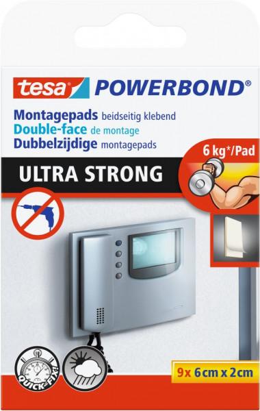 tesa® Powerbond® Montagepads Ultra Strong 9 x 6 cm x 2 cm