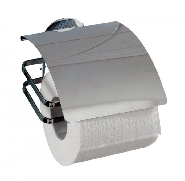 WENKO Turbo-Loc® Edelstahl Toilettenpapierhalter Cover
