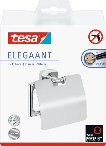 tesa® Elegaant Toilettenrollenhalter mit Deckel