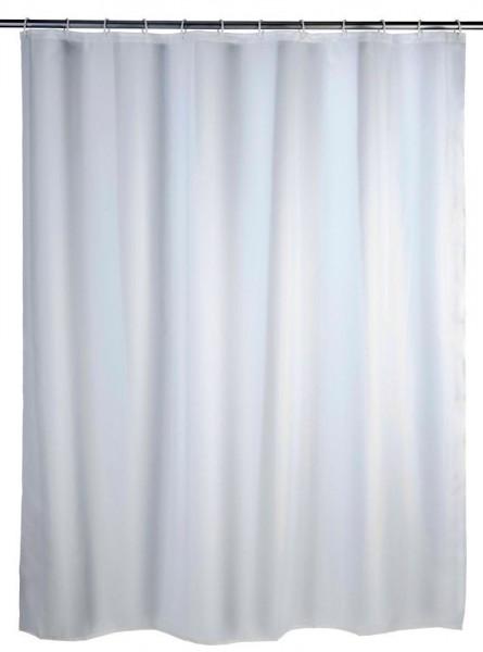 WENKO Duschvorhang Uni Weiß, 180 x 200 cm