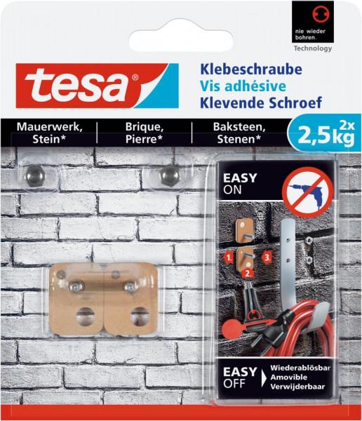 tesa® Klebeschraube viereckig, Mauerwerk