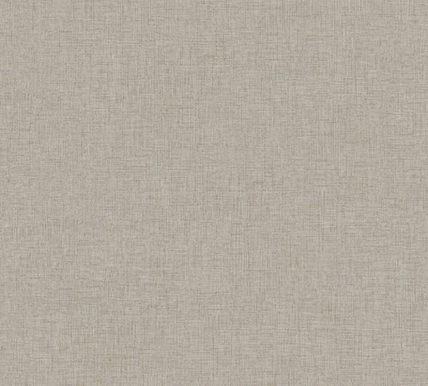 Livingwalls Vliestapete New Walls, Uni Textil Grau-Grün 374308