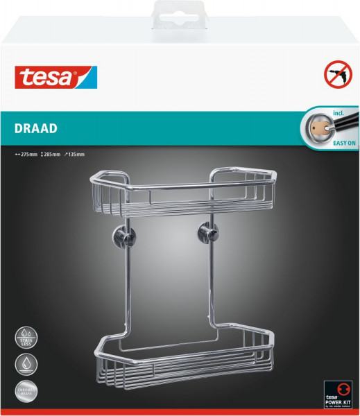 tesa® draad Drahtkorb zweistöckig sechseck