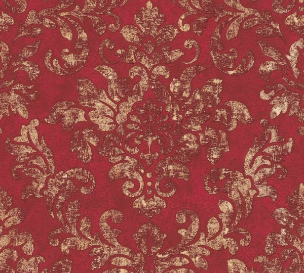 A.S. Création Vliestapete Neue Bude 2.0 Ed. II, Damask Rot Gold 374131