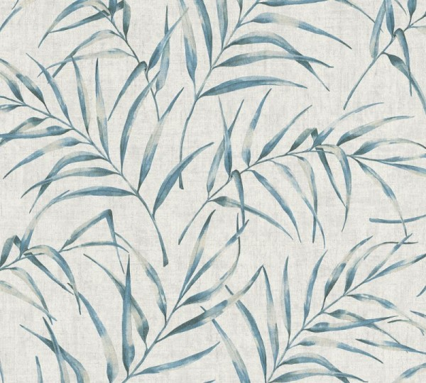 A.S. Création Vliestapete Greenery, Grau Blau 373351