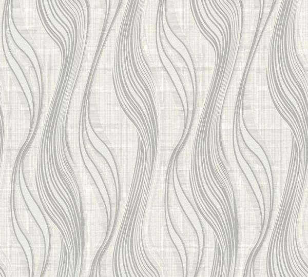 A.S. Création Vliestapete Trendwall, Grau Metallic Weiß 371423