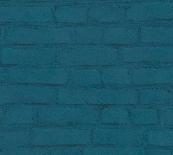 A.S. Création Vliestapete Neue Bude 2.0 Ed. II, Steine Blau 374144