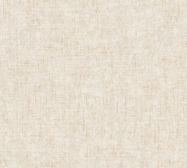 A.S. Création Vliestapete Greenery, Uni Beige Creme Metallic 322612