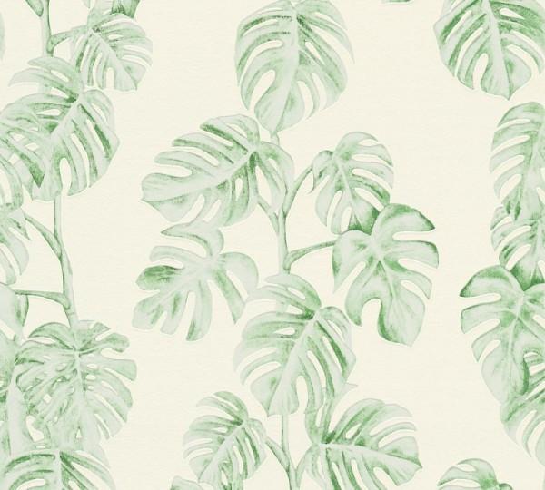 A.S. Création Vliestapete Greenery, Grün Weiß 372813