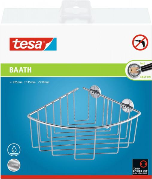 tesa® baath Plus Ablagekorb Ecke, extratief, inkl. Klebelösung