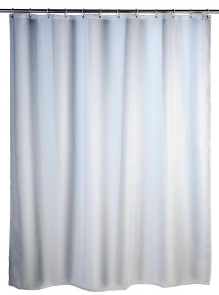 WENKO Duschvorhang Uni Weiß, 120 x 200 cm, waschbar