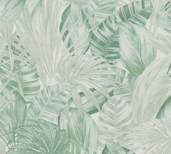 A.S. Création Vliestapete Greenery, Grün Weiß 368202