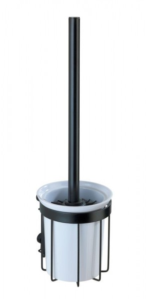 WENKO WC-Garnitur Classic Plus Black mit hochwertigem Rostschutz