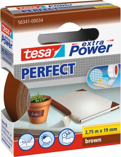tesa® extra Power® Perfect Gewebeband braun
