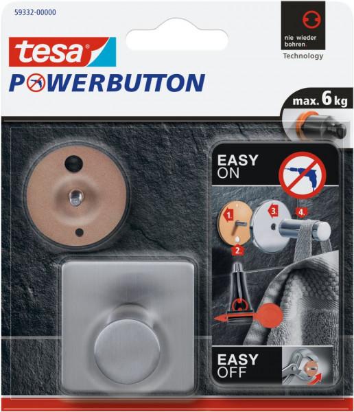 tesa® Powerbutton® Haken Classic Eckig Blister