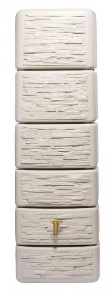 4Rain Wandtank Slim Stone Decor 300 L, Sandbeige