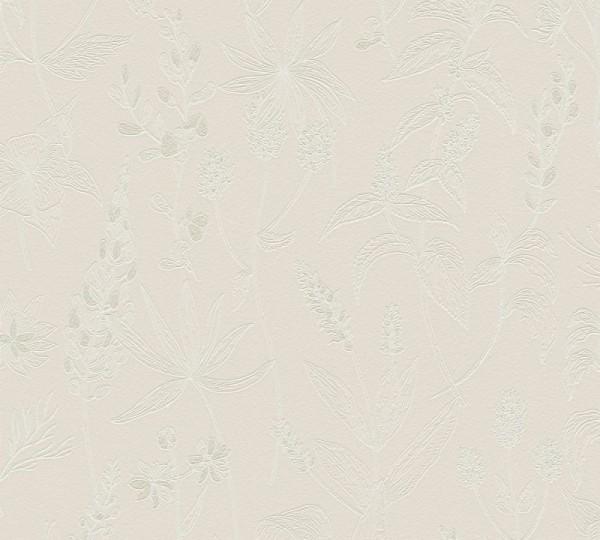 A.S. Création Vliestapete Trendwall, Beige Metallic Weiß 373634