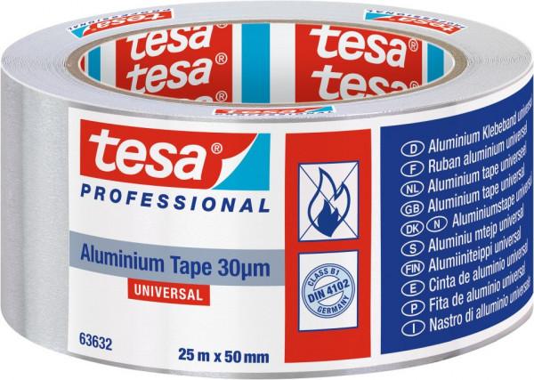 tesa® Alu Tape Klebeband Universal mit Liner 25 m x 50 mm