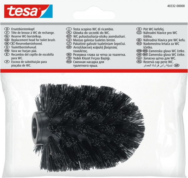 tesa® Ersatz-Toilettenbürstenkopf schwarz