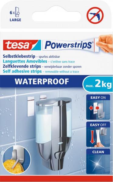 tesa® Powerstrips® Waterproof Strips Large, 6 Stück
