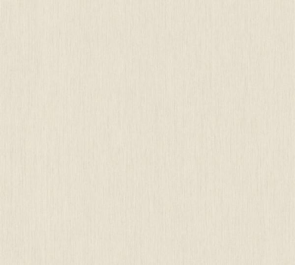A.S. Création Vliestapete Sumatra, Uni Creme Grau 373753