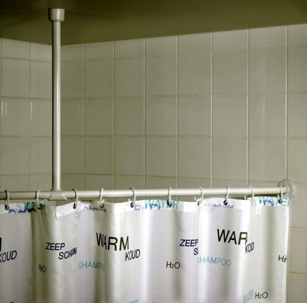 WENKO Deckenstütze für Duschstange Weiß