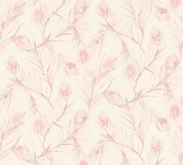 A.S. Création Vliestapete Exotic Life, Grau Metallic Rosa 373672