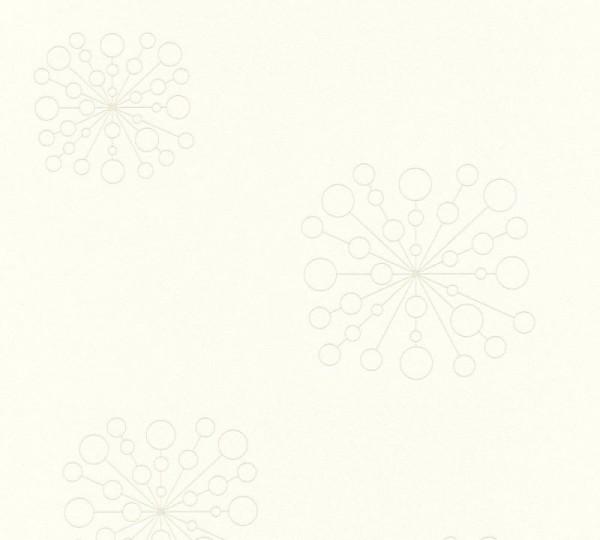 A.S. Création Vliestapete Trendwall, Weiß Metallic 367843