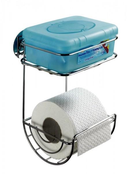 WENKO Turbo-Loc® Toilettenpapierhalter mit Ablage