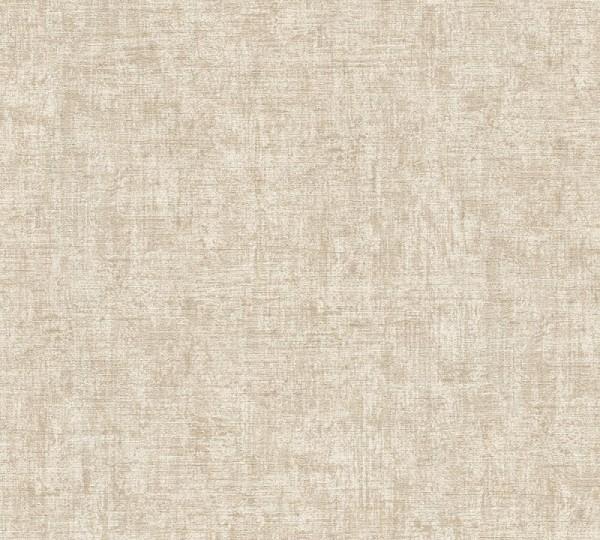 A.S. Création Vliestapete Greenery, Uni Braun Creme Metallic 322613