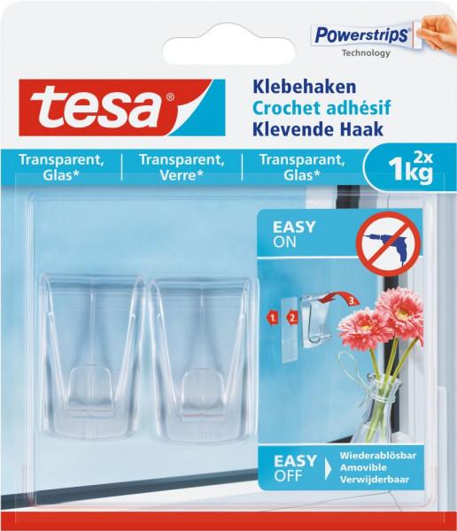 tesa® Klebehaken Glas