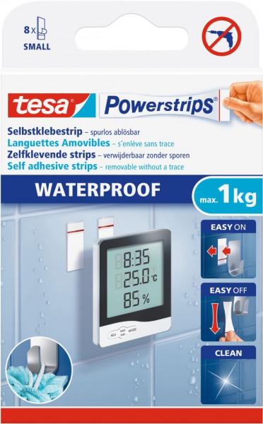 tesa® Powerstrips® Klebestrip Waterproof Small, 8 Stück