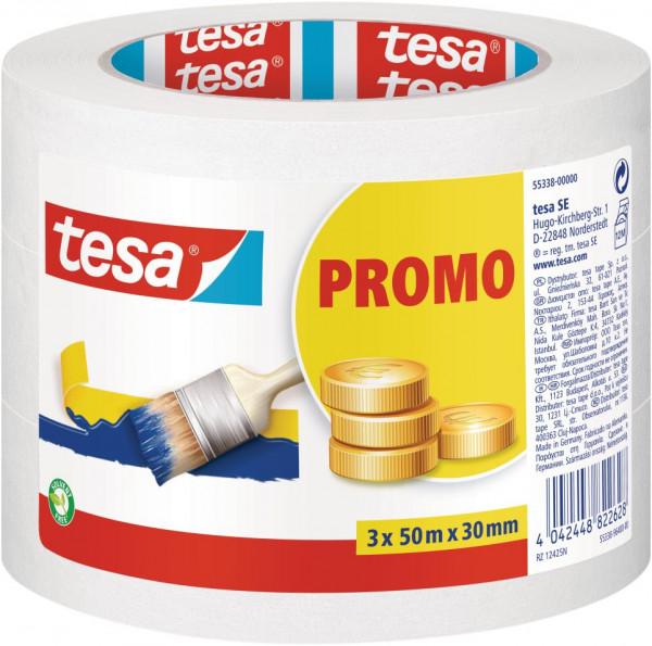 tesa® Malerband Promo 2+1 3 x 50 m x 30 mm