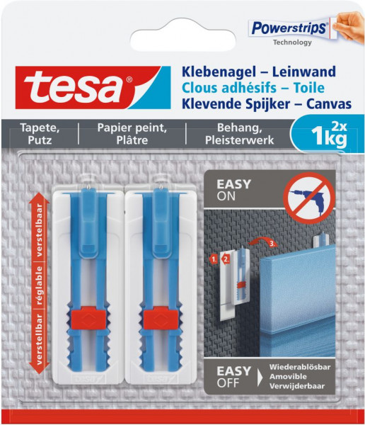 tesa® Klebenagel Leinwand verstellbar Tapete & Putz