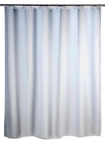 WENKO Duschvorhang Uni Weiß, 180 x 200 cm, waschbar