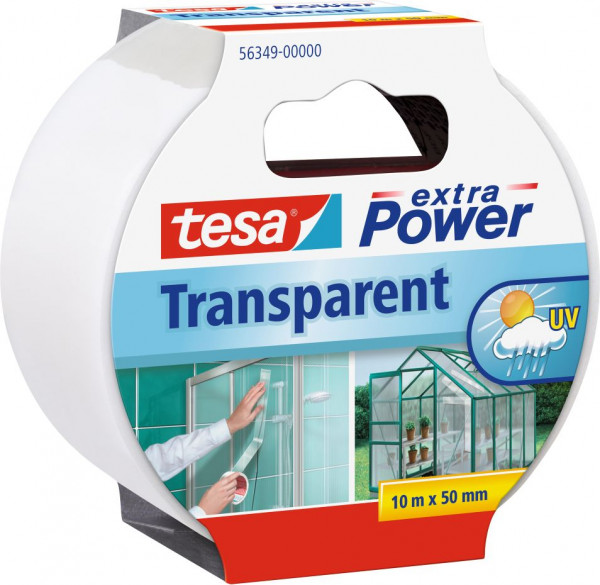 tesa® extra Power®Reparaturband transparent 10 m x 50 mm