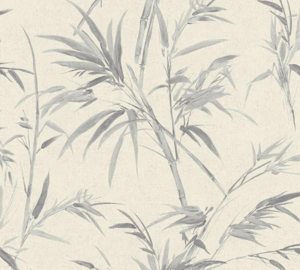 A.S. Création Vliestapete Sumatra, Metallic Grau 373765