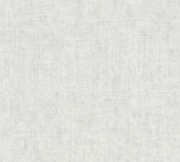 A.S. Création Vliestapete Greenery, Uni Grau Weiß 373341