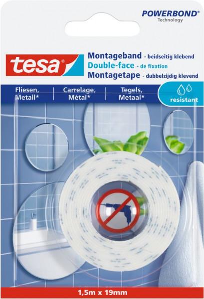 tesa® Montageband Fliesen, feuchtraumbeständig